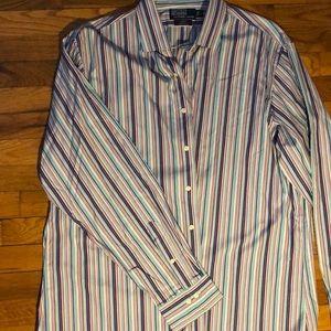 Ralph Lauren Button Down in Purple Stripe